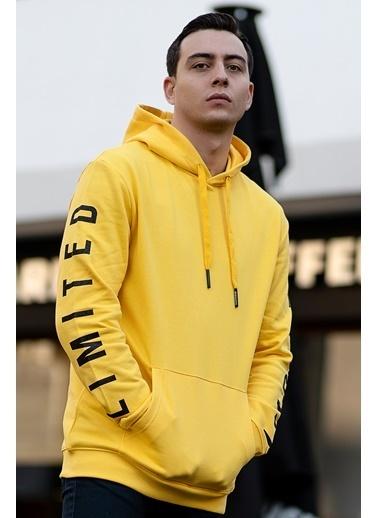 Bernotti 79 Sarı Kapüşonlu Erkek Sweatshirt Sarı